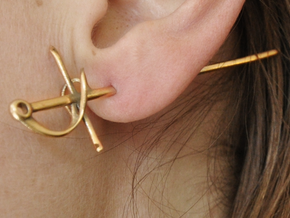 Rapier Earrings (17th c. Sword) in Natural Bronze