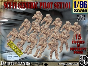 1/96 Sci-Fi Generic Pilot Set101 in Smooth Fine Detail Plastic