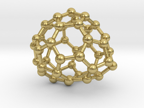 0653 Fullerene c44-25 c1 in Natural Brass