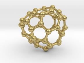 0657 Fullerene c44-29 c1 in Natural Brass