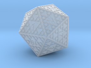 Sierpinski D20 in Smooth Fine Detail Plastic