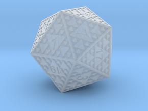 Sierpinski D20 in Smooth Fine Detail Plastic