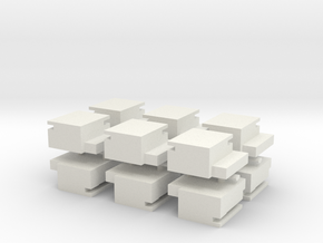 Utah Beach Block House  x12 in White Natural Versatile Plastic