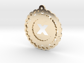 Magic Letter X Pendant in 14k Gold Plated Brass