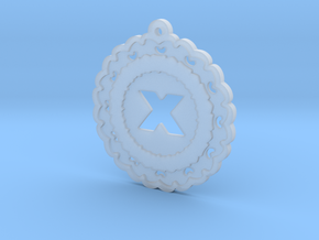 Magic Letter X Pendant in Smooth Fine Detail Plastic