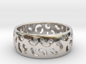 Leopard spot ring Multiple sizes in Rhodium Plated Brass: 5 / 49