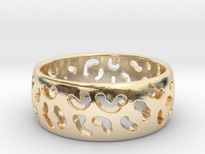 Leopard spot ring Multiple sizes in 14k Gold Plated Brass: 5 / 49