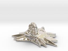 Witcher Fox Pendant 43mm in Platinum