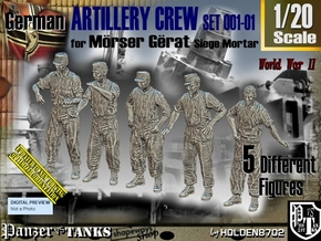 1/20 German ArtIllery Crew Set001-01 in White Natural Versatile Plastic