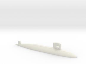 Yūshio-class submarine, 1/1250 in White Natural Versatile Plastic