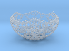Fractal Tealight Holder in Smooth Fine Detail Plastic