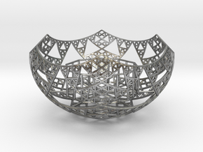 Fractal Tealight Holder in Natural Silver