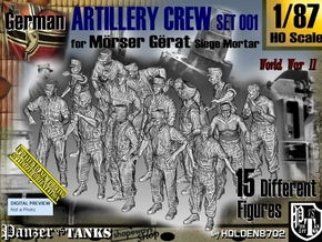 1/87 German Arty Crew Set001 in Smooth Fine Detail Plastic
