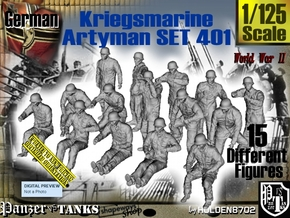 1/125 Kriegsmarine Artyman Set401 in Smooth Fine Detail Plastic