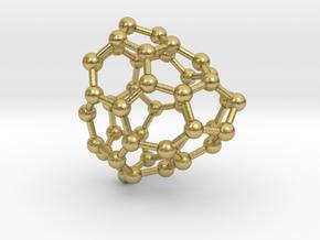 0662 Fullerene c44-34 c1 in Natural Brass