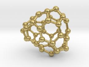 0661 Fullerene c44-33 cs  in Natural Brass