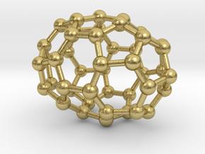0666 Fullerene c44-38 d3d in Natural Brass