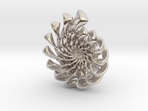 Ammonite Pendant in Rhodium Plated Brass