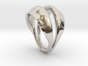 Fortune in Rhodium Plated Brass