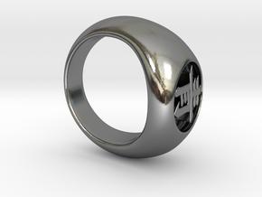 Akatsuki Ring - Deidara / Blue in Polished Silver: 6 / 51.5