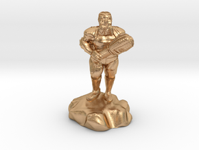 hill dwarf with greatclub in Natural Bronze
