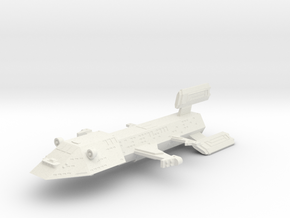 3788 Scale Kzinti Battleship (BB) SRZ in White Natural Versatile Plastic