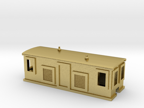 Alco Diesel Boxcab in Natural Brass