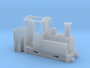 On18 Steam Tram Locomotive  in Smooth Fine Detail Plastic