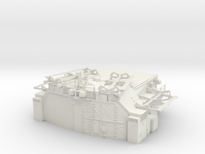 1/144 Bismarck Aft Double Hangar in White Natural Versatile Plastic