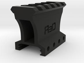"""1-1/4"""" 4 to 5 Slots Picatinny Riser (Centered) in Black Premium Versatile Plastic"""
