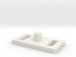 Triang_Hornby_XO3_XO4_Scalextric RX_brush_holder in White Natural Versatile Plastic