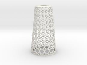 Lampshade_Cone_honey in White Natural Versatile Plastic
