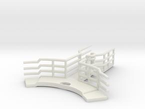 1/144 Bismarck Admirals Bridge Foremast Platform in White Natural Versatile Plastic