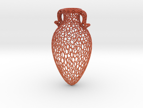 Voronoi Amphora in Matte Full Color Sandstone