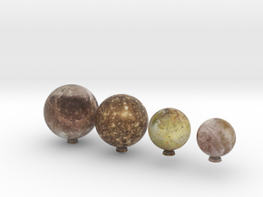 Galilean Satellites 1:100 million in Natural Full Color Sandstone
