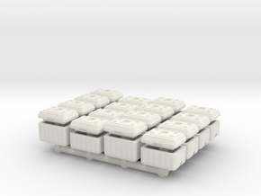 "1/87 Scale Cooler Chests ""OPENED"" in White Natural Versatile Plastic"