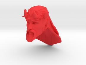 demon head 3 long hair in Red Processed Versatile Plastic