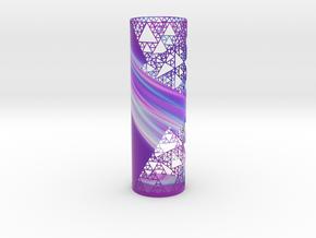 Sierpinski Decorative Vase in Matte Full Color Sandstone