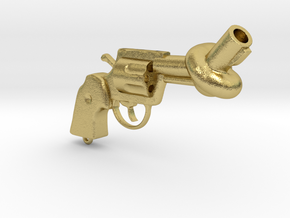 Knotted gun in Natural Brass
