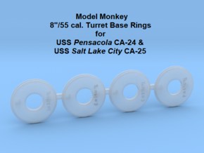1/700 Pensacola & Salt Lake City Base Rings in Smoothest Fine Detail Plastic