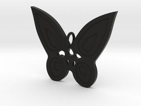 Butterfly Pendant in Black Premium Versatile Plastic