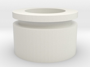 Rear Plug Spacer in White Natural Versatile Plastic