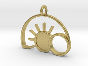 Empty Tomb Eclipse Pendant in Natural Brass