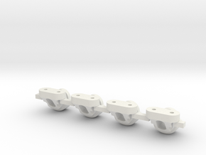 V2 Toyzuki Body Mount Version 2 in White Natural Versatile Plastic