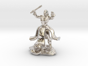 Water Genasi Druid with Wand of Magic Missile. in Rhodium Plated Brass