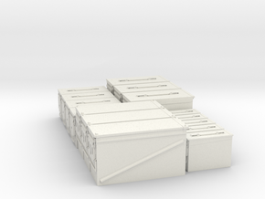 Ammo boxes in White Natural Versatile Plastic
