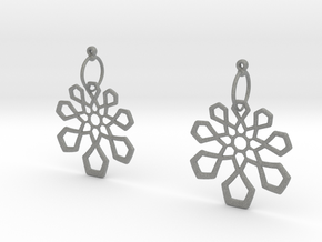 Arabesque Earrings in Gray Professional Plastic