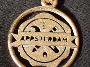 Appsterdam Pendant 1g for metal in Polished Bronzed Silver Steel