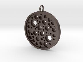 Trypophobic Pendant I in Polished Bronzed-Silver Steel
