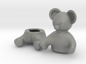 Small Teddy bear Box in Gray Professional Plastic